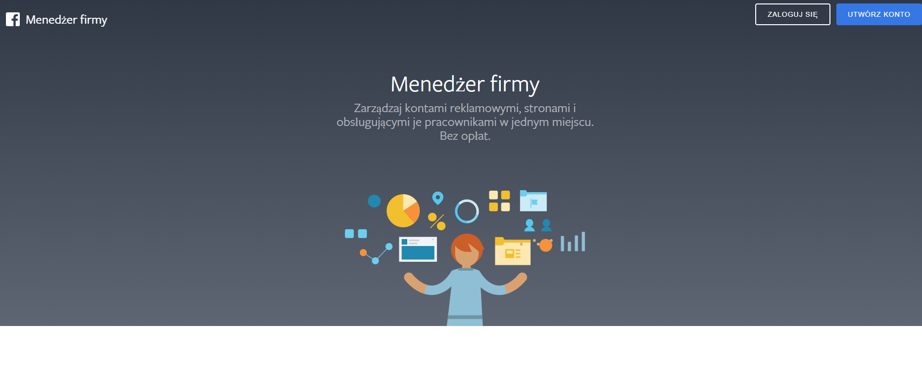 Manager Firmy - tworzenie konta